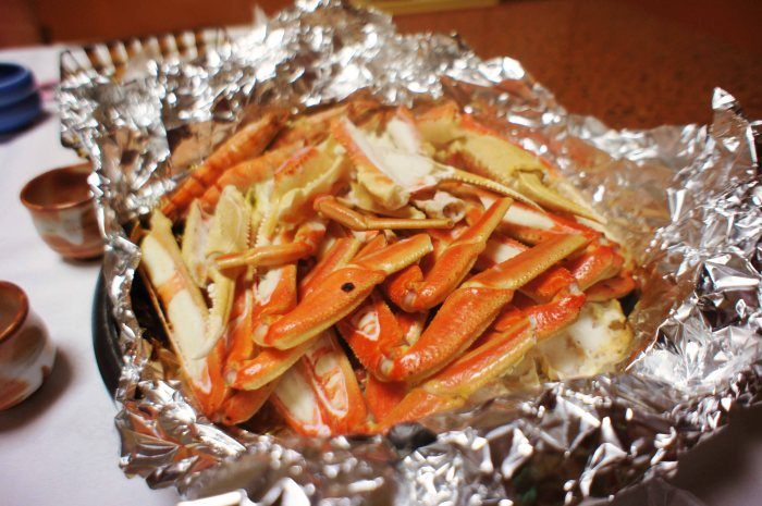 Steamed crab