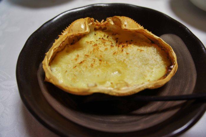 Crabshell gratin