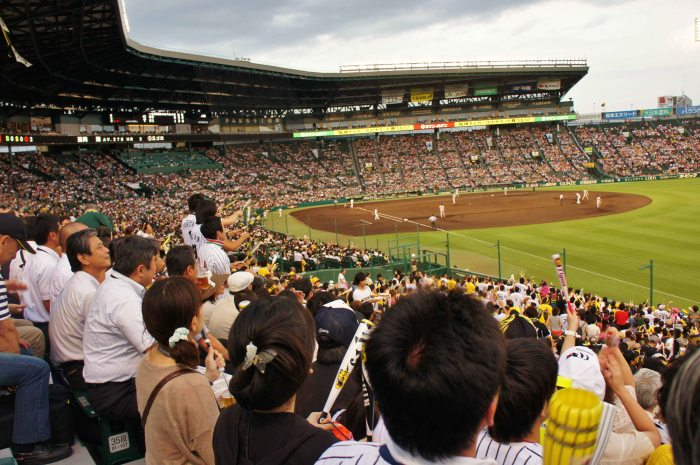 Watching the Hanshin Tigers game